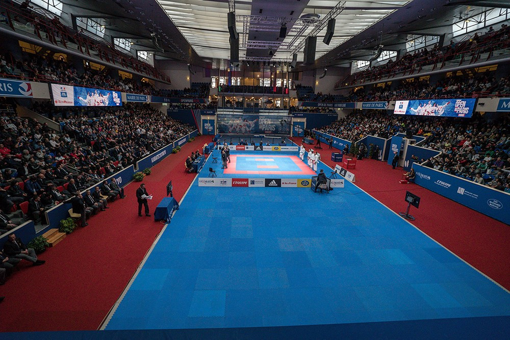 An International Olympic Committee delegation recently inspected the Paris Open, part of the WKF Karate1 Premier League series, as the sport continues its bid to be added to the programme for Tokyo 2020 ©WKF
