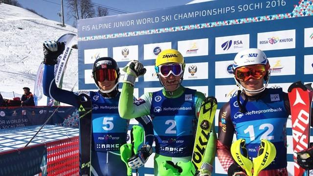 Slovenia's Stefan Hadalin won the men's competition in Sochi