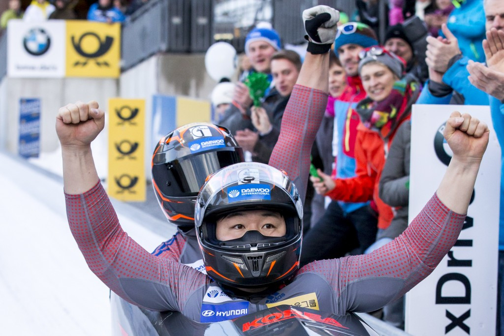 South Korean President Park congratulates sliding athletes on unprecedented success