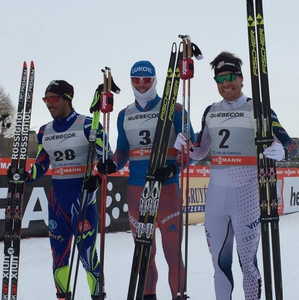Russia's Sergey Ustiugov secured his first sprint victory in two years as he won the men's race