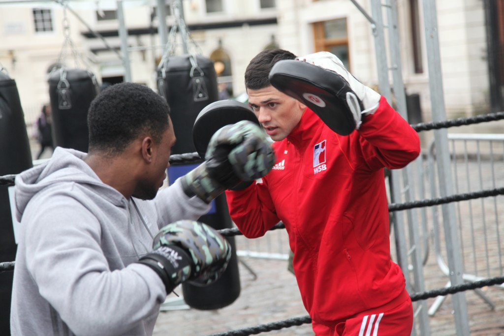 Joe Cordina was among the British Lionhearts boxers present at today's launch