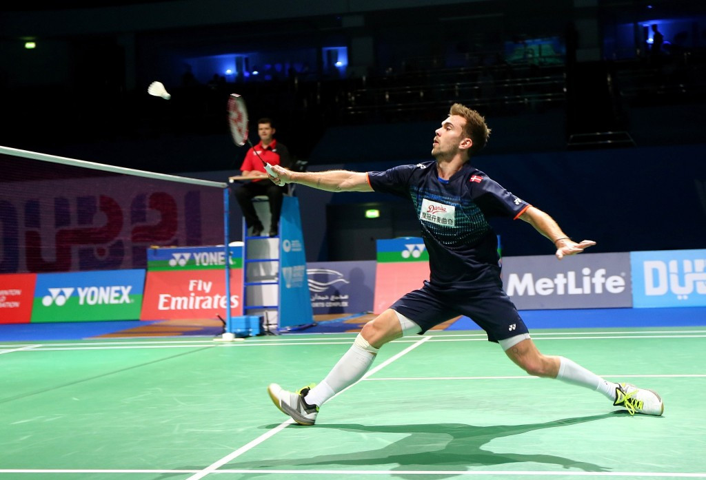 Danish top seed Jan Ø. Jørgensen ensured his place in the third round of the men's singles draw