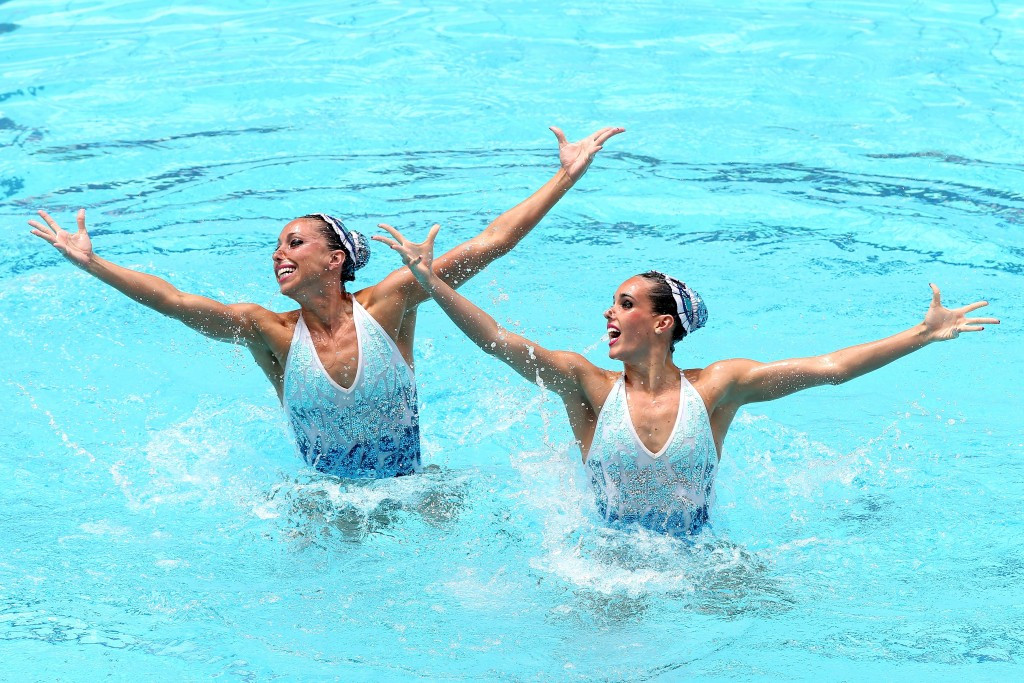 Ona Carbonell and Gemma Mengual perform their technical routine in Rio ©Getty Images
