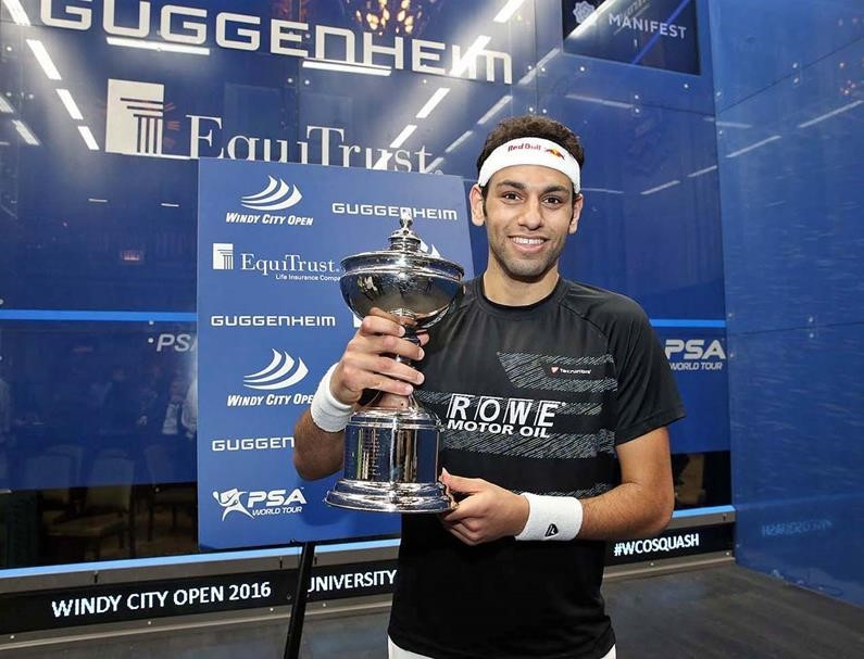 Mohamed Elshorbagy won the men's title after Nick Matthew retired ©squashpics