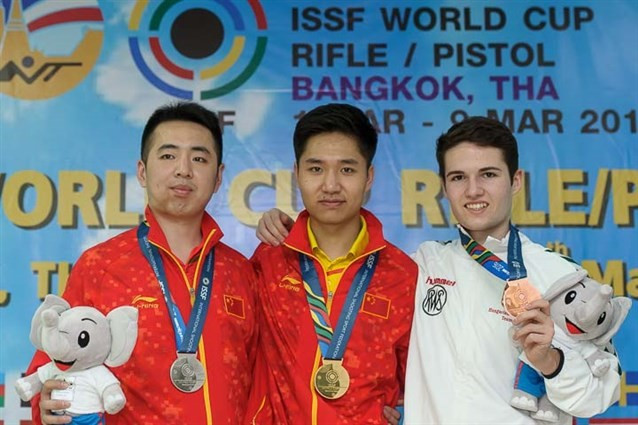 Yang Haoran topped the podium in the men's event ©ISSF