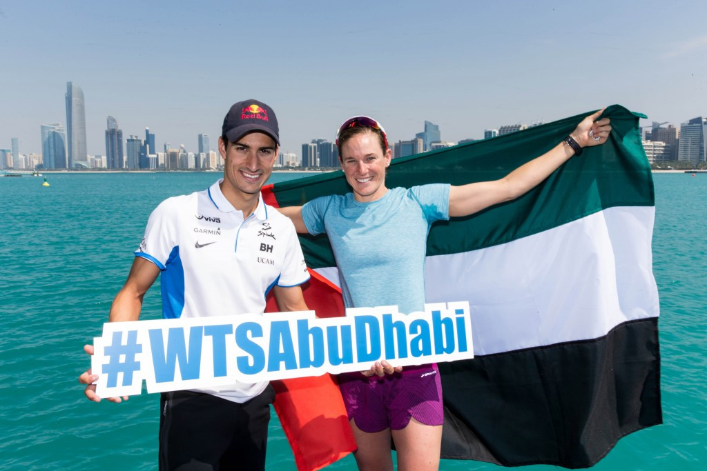 Mario Mola (left) is seeking to defend his men's title in Abu Dhabi ©Getty Images