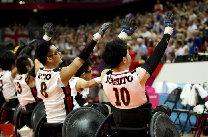 Japan, pictured celebrating after defeating Britain at London 2012, will be targeting a spot on the podium at Rio 2016 ©Getty Images
