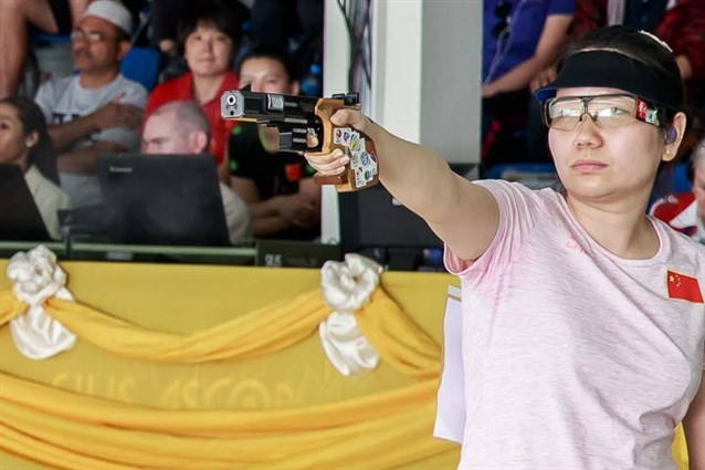 Chinese world champion Zhang Jingjing won the 25 metres pistol event in Bangkok ©ISSF