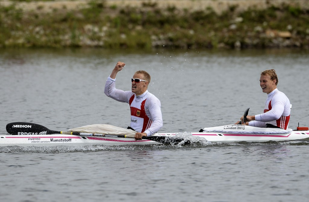 Max Rendschmidt and Marcus Gross won the men's K2 1000m race on a successful day for the home nation
