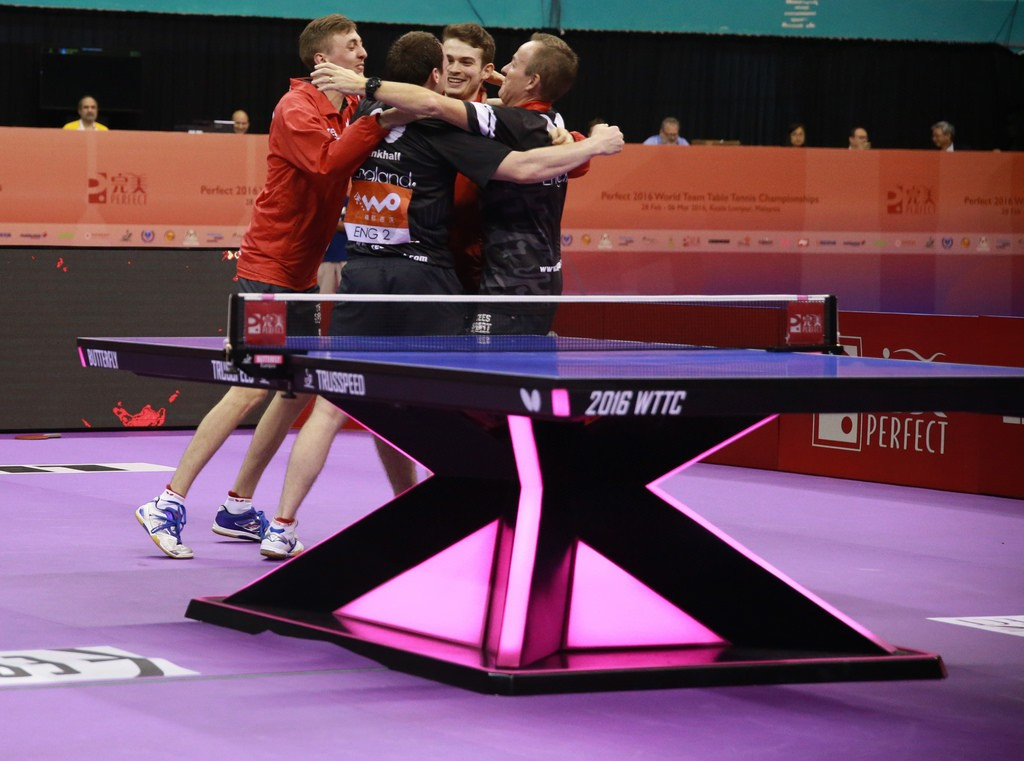 England progressed to the semi-final stage of the competition ©ITTF/Remy Gros