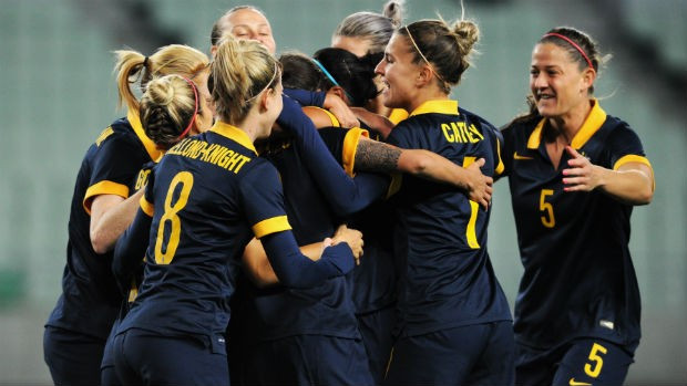 Australia moved a step closer to securing a coveted spot at Rio 2016 after beating South Korea 2-0 at the AFC Women's Olympic Qualifying Tournament in Osaka tonight ©FFA