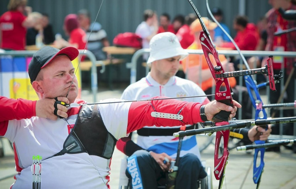 The event in Almere gives some of the world's top para-archers the chance to hone their preparations for the World Championships in August