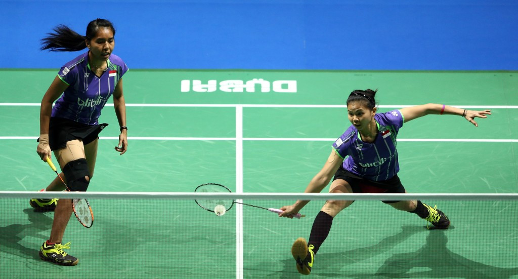 Top seeded Indonesians Nitya Krishinda Maheswari and Greysia Polii suffered elimination from the women's doubles competition