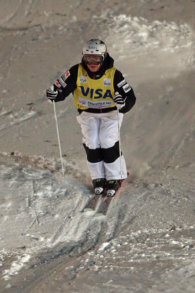 Chloe Dufour-Lapointe claimed the women's moguls title ©Getty Images