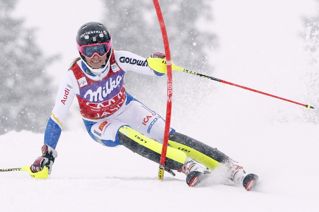 Frida Hansdotter won the women's overall slalom title