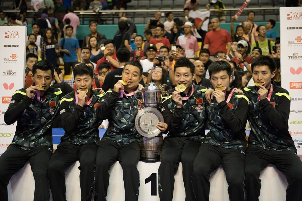 China defended their men's title in style ©ITTF/Facebook