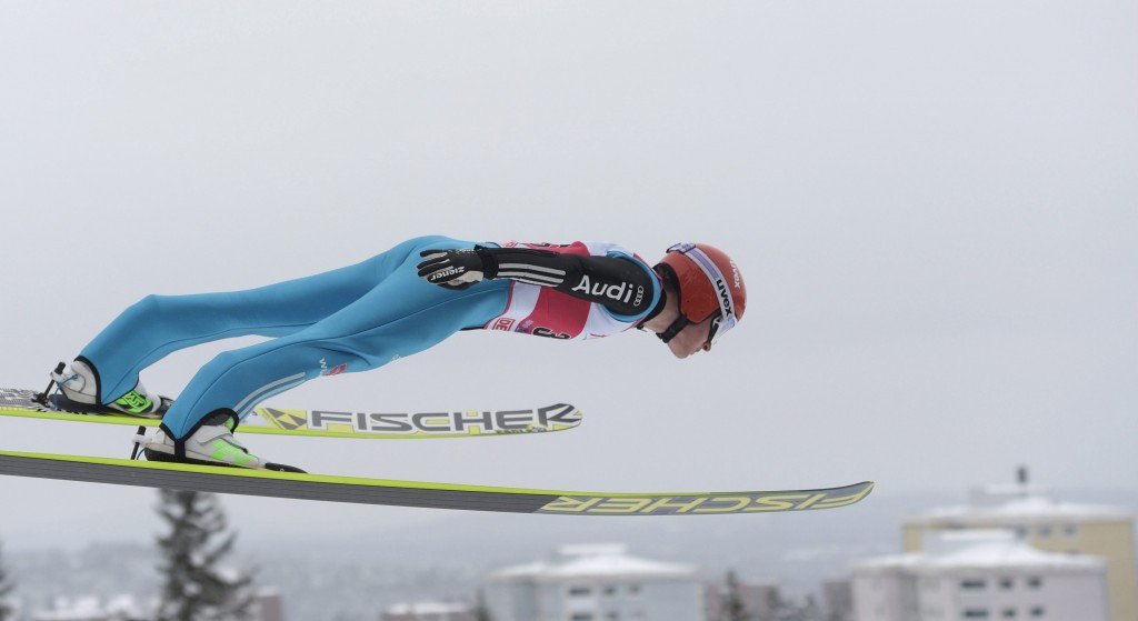 Manuel Faißt won the ski jumping but drifted away during the cross-country
