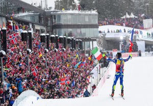 Dominant Fourcade seals hat-trick of gold medals at IBU World Championships
