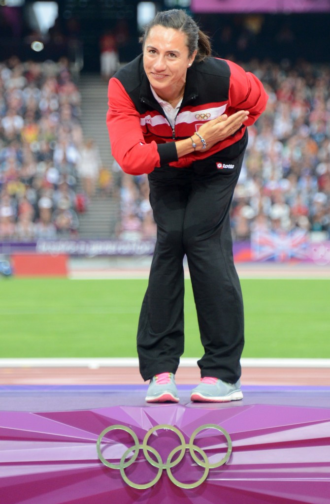 Aslı Çakır Alptekin was stripped of her Olympic gold medal