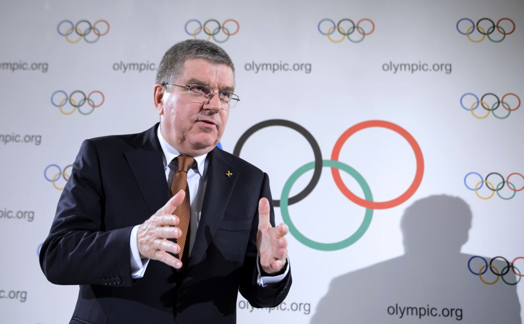 A refugees Olympic team was a major decision announced by Thomas Bach following the Executive Board meeting ©Getty Images