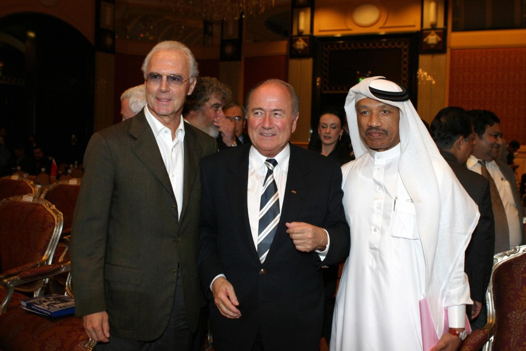 Franz Beckenbauer, left, has been forced to deny fresh allegations of corruption during Germany's successful bid to host the 2006 World Cup including that he made a multi-million dollar payment to Qatari Mohammed bin Hammam, right ©Getty Images