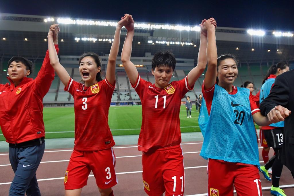 China celebrate their Rio 2016 progression