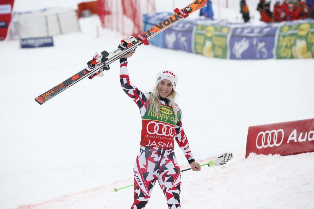 Eva-Maria Brem claimed the race victory in Slovakia