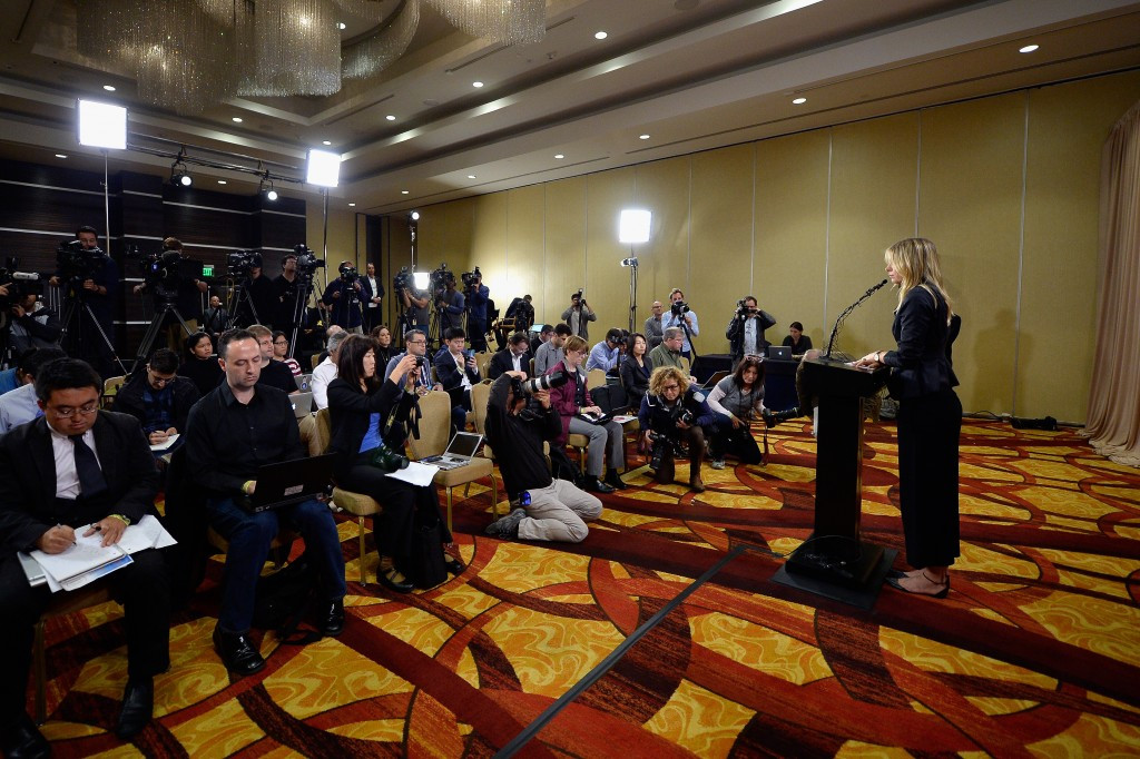 Maria Sharapova admitted to having tested positive during a press conference in March ©Getty Images
