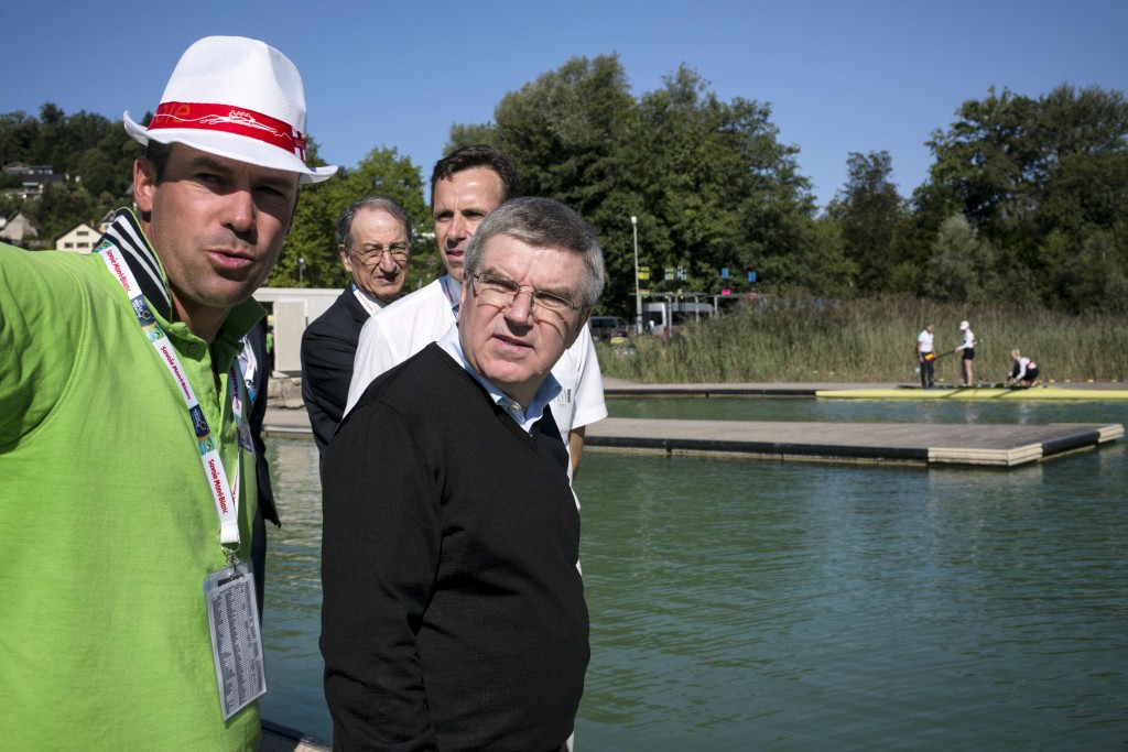 The proposals suggested by FISA would meet the mandate of the IOC under its President Thomas Bach, pictured right, of having gender equality in all sports at the Olympic Games ©Getty Images