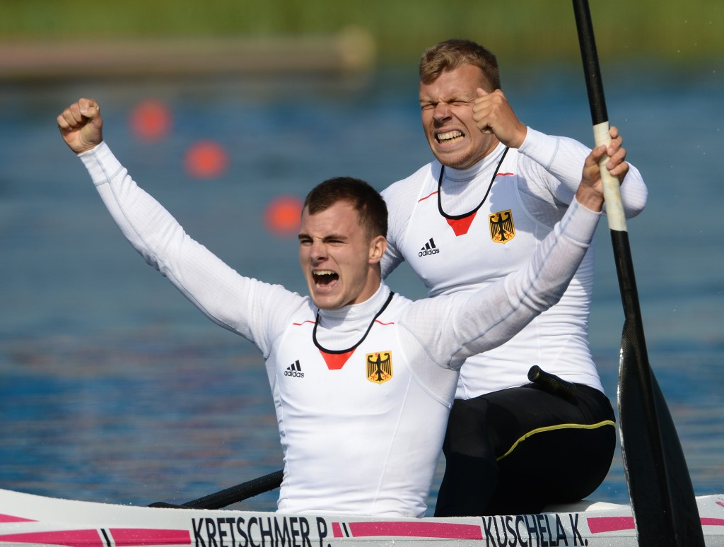 Peter Kretschmer of Germany continued his impressive run of form with victory in the C2 1000m at Duisburg