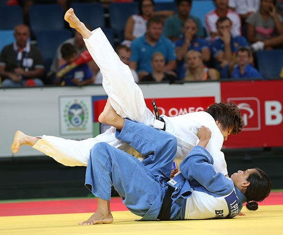 Chishima Maeda claimed the women's under 52kg gold on a day of Japanese success at the Rio test event ©IJF
