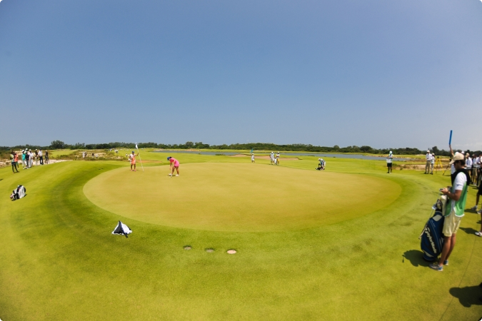 Nine players participated in the Rio 2016 golf test event ©Rio 2016/Alex Ferro
