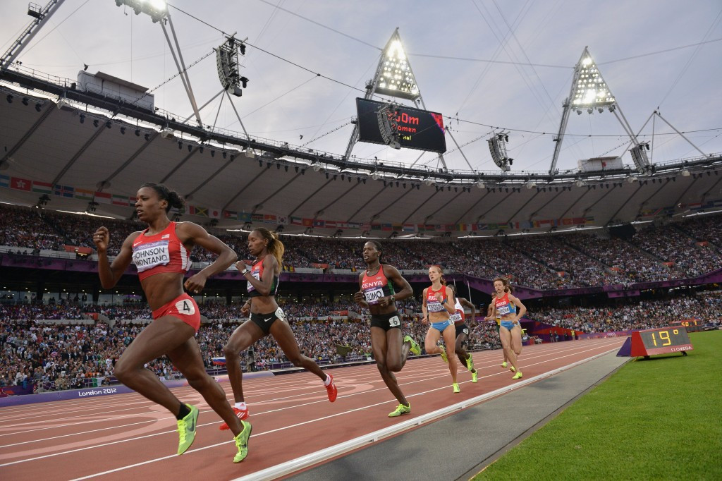 Alysia Montano crossed the line fifth in the 800m final at London 2012 ©Getty Images