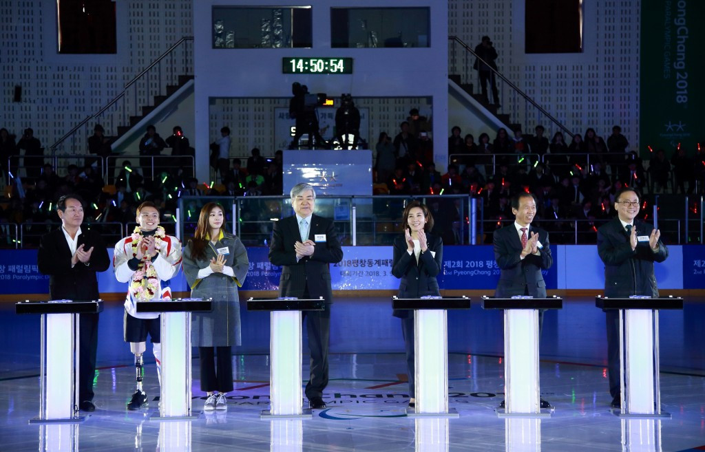 The second Pyeongchang 2018 Paralympic Day was attended by a host of dignitaries and officials