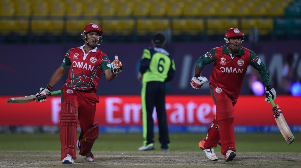 Oman mark ICC World Twenty20 debut with shock win over Ireland