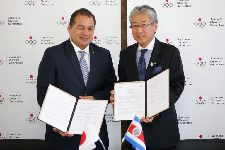 Japanese Olympic Committee sign partnership agreement with National Olympic Committee of Costa Rica in Tokyo