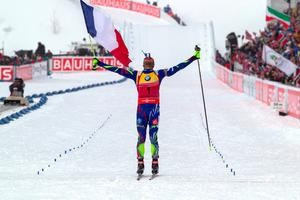 Four for Fourcade as Frenchman wins again at IBU World Championships