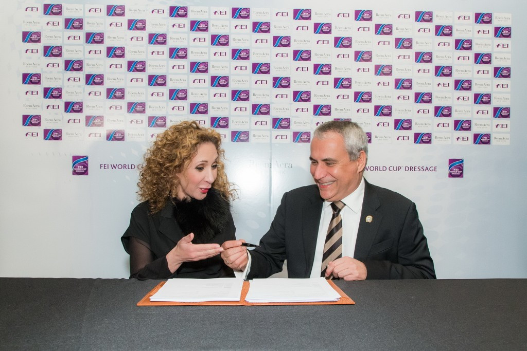 Top fashion designer Reem Acra extends sponsorship of FEI World Cup Dressage
