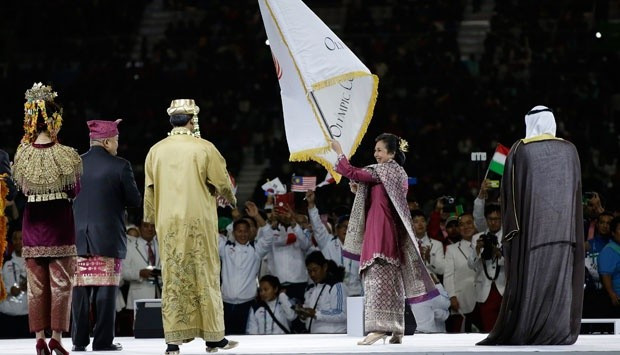 Jakarta received the official Olympic Council of Asia flag at the Closing Ceremony of the 2014 Asian Games in Incheon