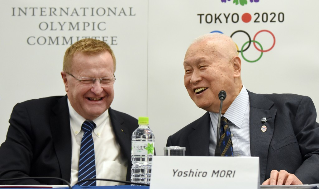 Tokyo 2020 President Yoshirō Mori blamed Sports Minister Hiroshi Hase for the controversy surrounding the placement of the Olympic Cauldron at the National Stadium ©Getty Images