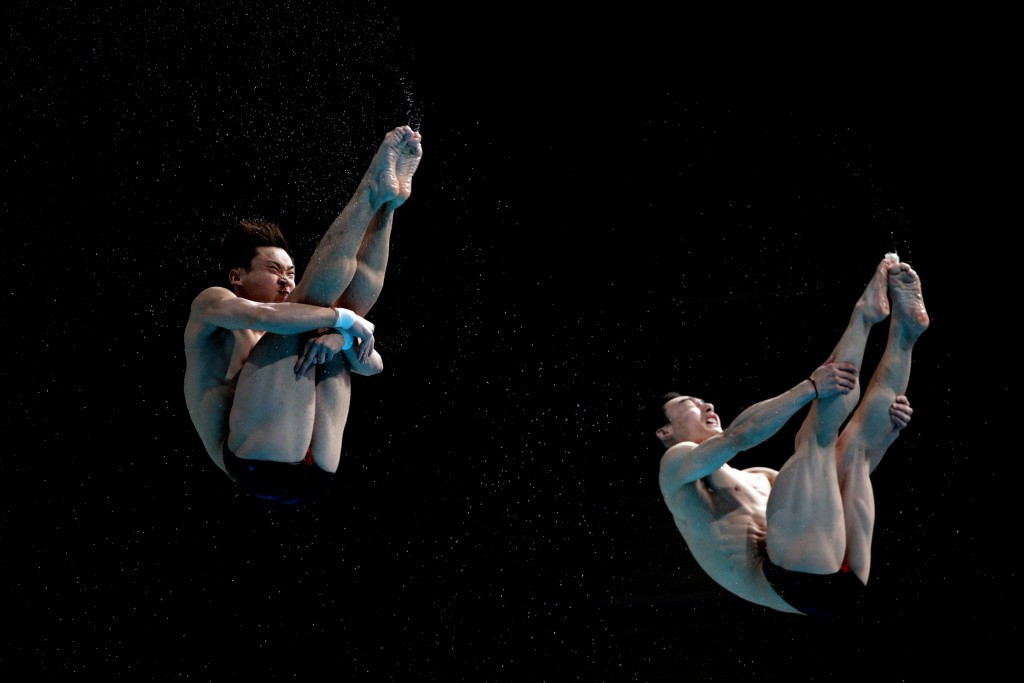 Cao Yuan and Qin Kai triumphed in the men's 3m springboard competition