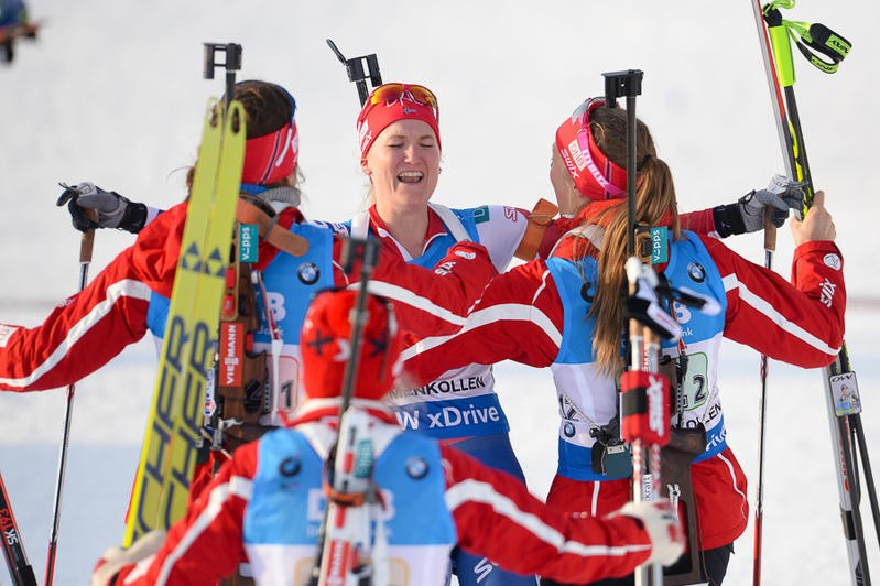 Norway end French winning streak with women's relay gold at IBU World Championships