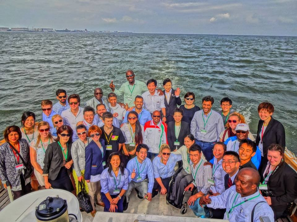 A boat tour of Tokyo Bay concluded the first day of the two-week programme