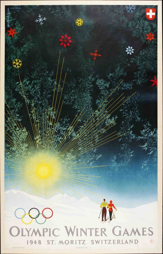 St Moritz was the last Swiss city to host the Winter Olympic Games back in 1948 ©Olympic Museum