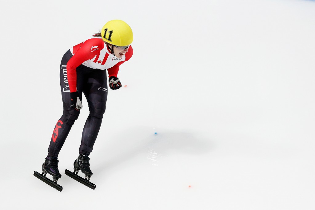 St-Gelais wins gold and silver as first medals are decided at ISU World Short Track Speed Skating Championships