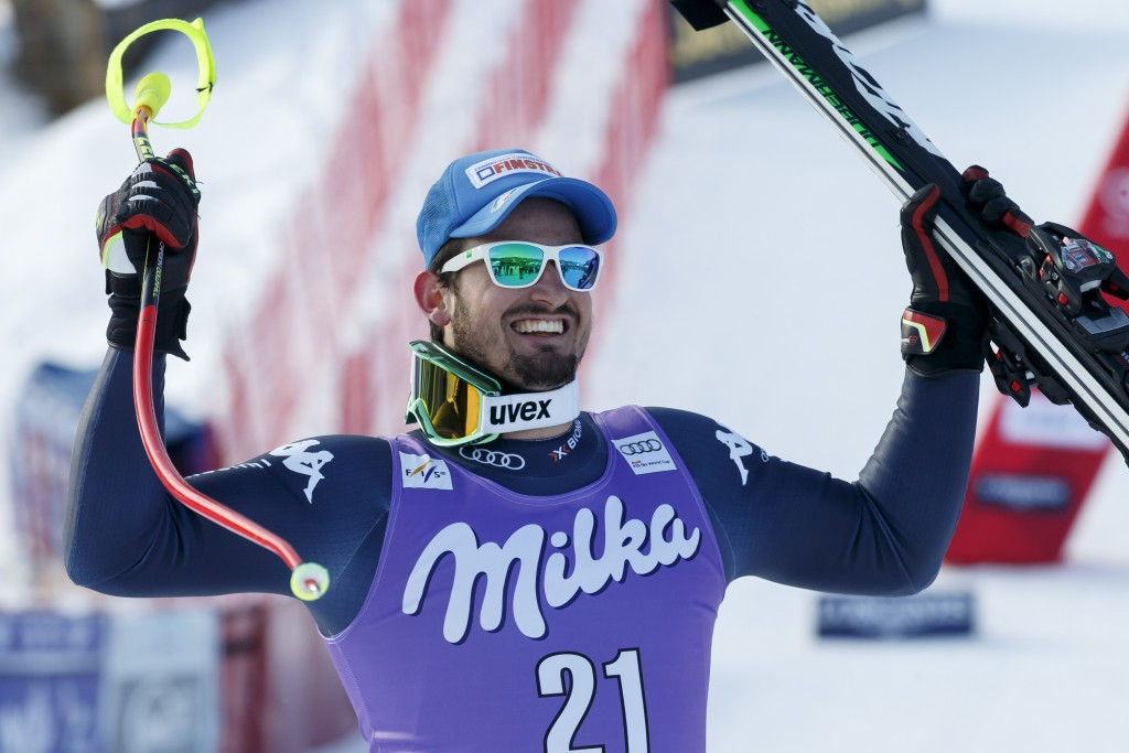 Dominik Paris made it two downhill wins in a row after his victory in Chamonix last month