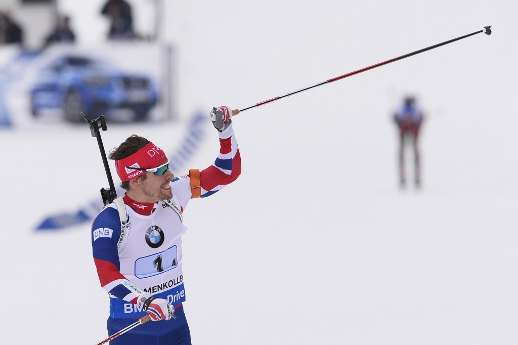 Poignant gold for Björndalen as Norway's men win relay title at IBU World Championships