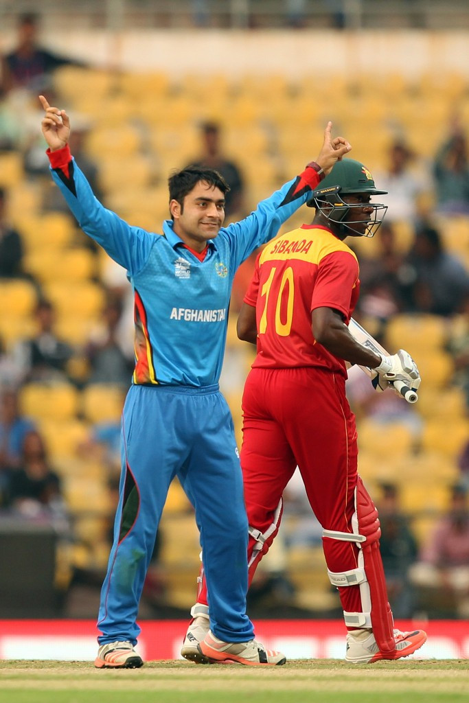 Rashid Khan shone with the ball as Afghanistan made the Super 10s stage