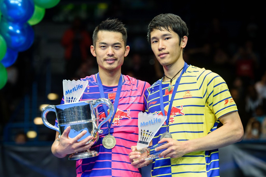 Lin Dan (left) claimed his sixth men's title at the Championships