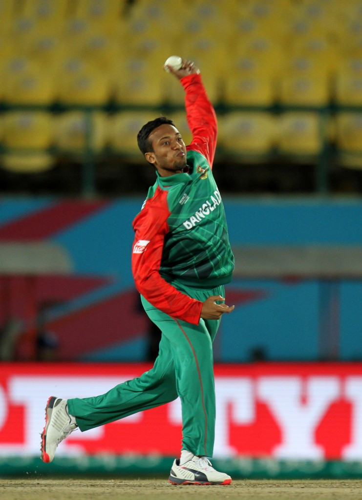 Shakib Al Hasan helped himself to four wickets as Oman crumbled
